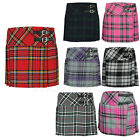 Girls Kids Tartan Pleated Billie Kilt Skirt Leather Buckled Straps 3- 14 Years