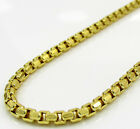 """20-26"""" 2.3mm 10k Yellow Gold Fancy Skinny Hexagon Box Chain Necklace Ladies Mens"""