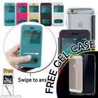 iPhone 6S / 6 Plus 5S 5 Case, Premium Flip Slim Swipe View Cover For Apple