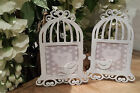 White Metal Birdcage Photo Frame Picture Vintage Chic Wedding Table Plan Shabby