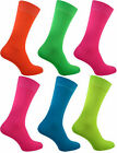 Men's Teddy Boys Neon Socks UK 6-11 Purple, Blue, Red, Pink, Orange, Yellow.