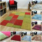 Small Large Thin Patchwork Rugs Easy Clean Cotton Purple Muliti Blue Modern Mats