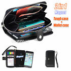 iPhone 6 5S 5 5C 4S 4 Magnet 2in1 Zip Coins Wallet Leather Case