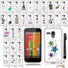 For Motorola Moto G Falcon XT1032 Art Design SILICONE Case Cover Phone + Pen