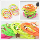 Rubber Band 5pcs Four fluorescent color Elastic Hair Rubber Band  A58