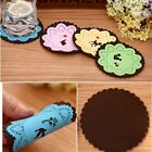 coasters 4 Colors home Lace carved silicone Nonslip Drinks coasters  A284
