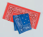 COWBOY BANDANA BLUE/ RED SCARF NECKERCHIEF WESTERN FANCY DRESS