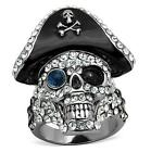 Size 5 6 7 8 9 10 Skull Ring Gothic Pirate Cross Bones Halloween Goth LTK1659E