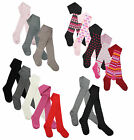 Back to School Girls Full Length Tights Kids Toddlers Grey Black Cotton Tights