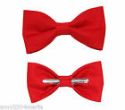 Chinese Red Clip On Bow Tie Men / Boy / Toddler