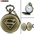 Antique Pocket Watch Necklace Chain Quartz Xmas Pendant Gift Vinatge Bronze Top