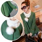 Fashion Winter Women Warm Woolen Coat Jacket Cape Cloak Parka Short Outerwear