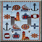 Light Switch Plate Cover - Nautical area pattern - Lighthouse anchor boat water