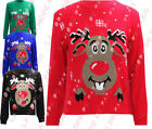R37 NEW KIDS UNISEX GIRLS BOYS CHRISTMAS FESTIVE NOVELTY SWEATER KNITTED JUMPER.