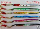 Speed Jigs 7oz /200g Knife Vertical Butterfly Lures 6 Pieces -Choose Colors