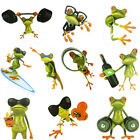 3D Cute Frog Funny Car Stickers Truck Window Vinyl Decal Graphics Sticker Tide
