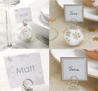 Christmas Bauble Place Card Holders and/or Place Cards Winter Wedding,Snowflake