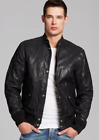 "DIESEL ""L-Ghita"" Sheepskin Leather Bomber Jackets Black NEW NWT"