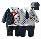 Baby Boy Smart Casual Clothes, Cardigan & Jeans & Top Tie Complete Outfit 6-24M