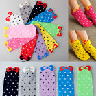 5 Pairs Women Cute Candy Bowknot Colors Sport Short Low Cut Ankle Socks