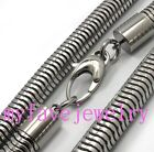Mens Boys 8mm Mens 316L Stainlesss Steel Round Snake Chain Necklace
