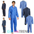 Mens Cargo Bay 100% Cotton Flannel Long Sleeve Top Pyjamas Bottom Thermal Set