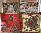 """Tapestry Christmas Cushion Covers in 4 fantastic designs, 18""""x18"""",Beautiful"""