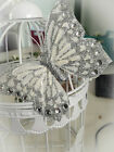 WEDDING 12 large BUTTERFLIES FOR CAKES AND BOUQUET ect free p+p