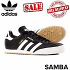 new Adidas Original Mens Samba Super Shoes Trainers  Black/White sizes 7-11