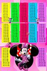Disney Minnie Mouse Times Tables Wall A4 or A3 Photo Poster