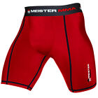 Внешний вид - MEISTER RED COMPRESSION RUSH SHORTS w/ CUP POCKET - MMA Vale Tudo BJJ Rash Guard