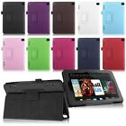 """For 2014 Amazon Kindle Fire HD 7"""" Tablet PU Leather Folio Smart Fit Case Cover"""