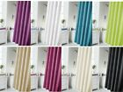 Plain Polyester Waterline Shower Curtains With 12 Hooks