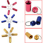 5X Aluminum Waterproof Medicine Pill Box Case Dog Tag Cash Stash Capsule