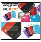 For XOLO ONE Matte Textured Vivid Coloured Soft Silicon Back Case Cover Pouch