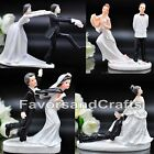 Funny Wedding Cake Toppers Figurine Bride Groom Humor Favor Marriage Gift Topper