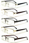 Man Reader Metal Frame Spring Temple Reading Glasses - RE34 Assorted Color
