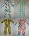 Primark Girls Or Boys Kids All In One Sleep Suit Romper Pyjamas  Ages 2 - 13 New