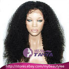 "Afro Kinky Curl 100% Brazilian remy human hair full/Front lace wigs 8""-22"""