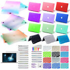 4in1 Rubberized Hard Case Port screen cover For NEW Macbook Pro 13 15/Air 11 13