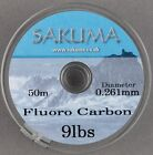 Sakuma Fluorocarbon (Clear) - 50M - All Breaking Strains