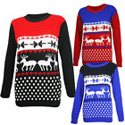Mens Unisex Womens Xams Jumper Novelty Vintage Retro Knitted Sweater S ,M,L,XL