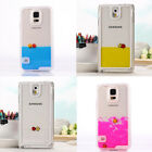 New Flowable Liquid Swimming Fish Transparent Case For Samsung Galaxy S5 S4