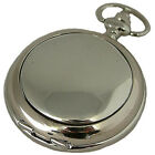 MENS MECHANICAL POCKET WATCH PLAIN COVERS A Williams Superb Gift New ENGRAVABLE
