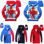New hot Kids Baby Boys Girls spider-man Hooded Coat Jacket Jumper Ages 2-8years
