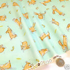 "per 1/2 metre/ FQ 100 % cotton GUESS HOW MUCH I LOVE YOU bunny Mint 44"" wide"