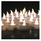 100X Led Battery Operated Flameless Tealight Candles Warm White Wedding Party