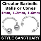 Circular Barbell Eyebrow Ear Lip Nose Tragus Nipple Belly Horseshoe Bar Ring CBB