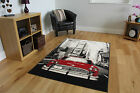 Modern Small Extra Large Black And Red Grey Floor Carpets Rugs Soft Modern Rugs