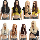 """Hot Hairstyle Front Lace 24"""" Long Straight Wig Heat Resistant Full Wig+Wig Cap"""